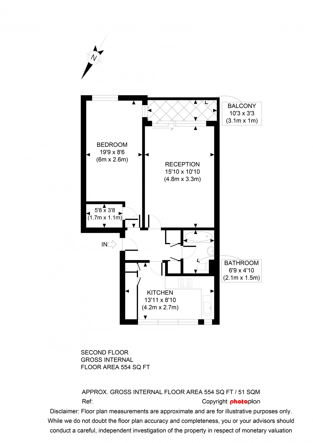 Floorplan for Duncombe Road, Archway